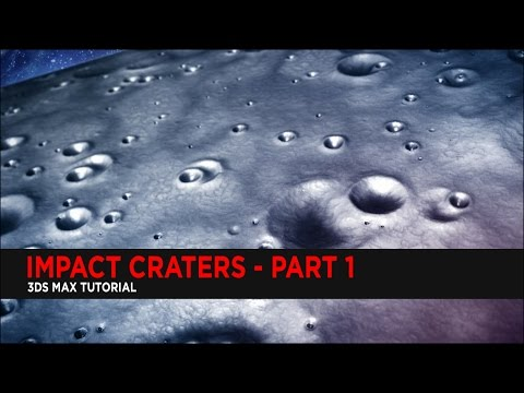 Create Impact Craters in 3DS Max Part 1 : Tutorial