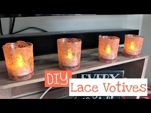DIY | Tumblr Inspired Lace Candle Holders/Votives