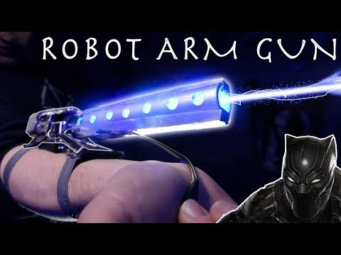 Make a Black Panther Robot Arm CANNON! - Real Working Destructive Klaw Arm!!!