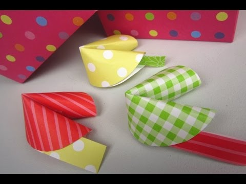 {DIY Christmas}❄Paper Fortune Cookies