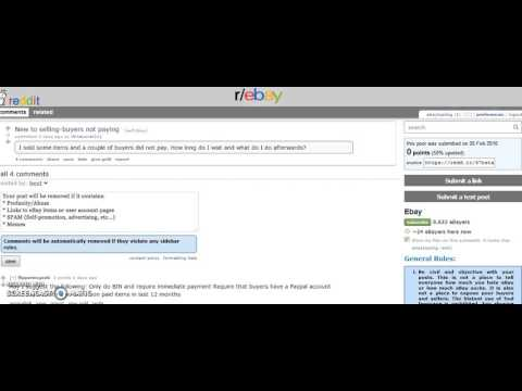 eBay Buyers Not Paying? How to solve this problem once and for all!!!