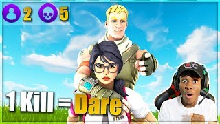Download 1 KILL = REMOVE 1 CLOTHING w/ GIRLFRIEND - Fortnite Challenge (CRAZY REACTION) Video