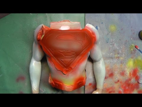 Painting Superman Adopted Son 1/4 Scale Resin Statue - Upper Body WiP