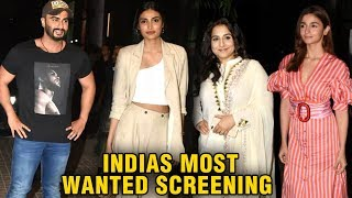 Alia Bhatt, Vidya Balan, Athiya Shetty At Arjun Kapoor's India's Most Wanted Screening