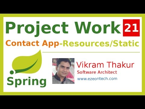 21-Spring MVC - Project Work | Resource Handler - CSS, JS, Images (Contact App)- By eZeon