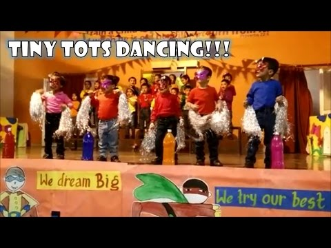 Tiny Tots Dancing - First Stage Performance | Pre School Class Presentation - Ryan International