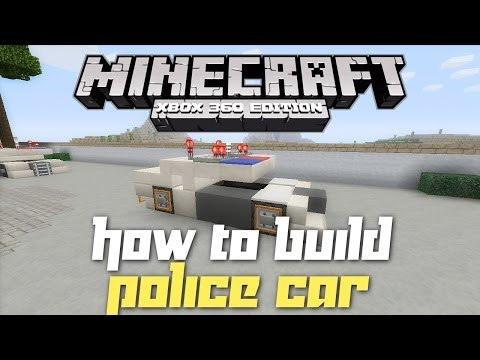 Minecraft Xbox 360: How to Build a Police Car! (TU14 Creation!)
