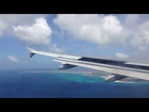 JetBlue A320 Landing at Aruba (AUA)