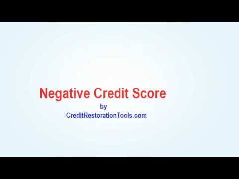Negative Credit Score - How To Remove Negative Credit Score Items from your credit report