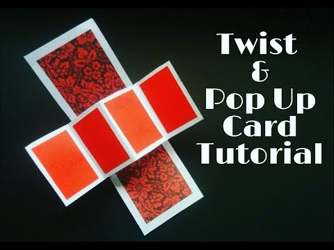 Twist & Pop Up Card Tutorial | Twist & Pop Up Card For Scrapbook
