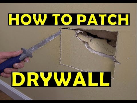 How To Patch a Hole In Drywall - Drywall Repair