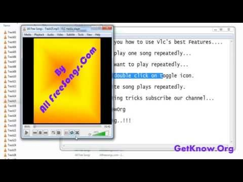 How to Play your favourite song repeatedly in vlc