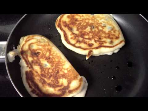Ency's Kitchen -Blueberry and White Chocolate Pancakes