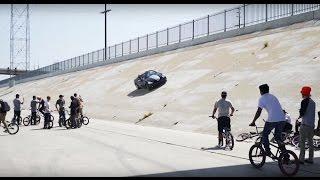 BMX VS CRAZY CAR GUY