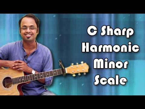 How To Play - C Sharp Harmonic Minor Scale - Guitar Lesson For Beginners