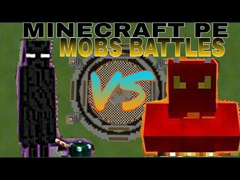 Ender Lord VS. Fire Demon -Minecraft PE Mob Battles
