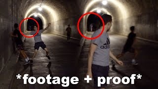 i caught the ghost girl from the haunted tunnel on video… *real ghost*
