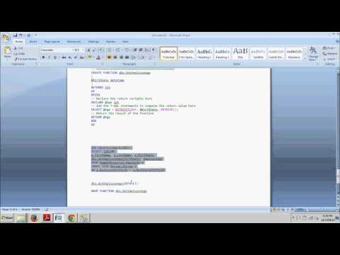 SQL Server tutorial 59: Create, alter and drop a user defined scalar function