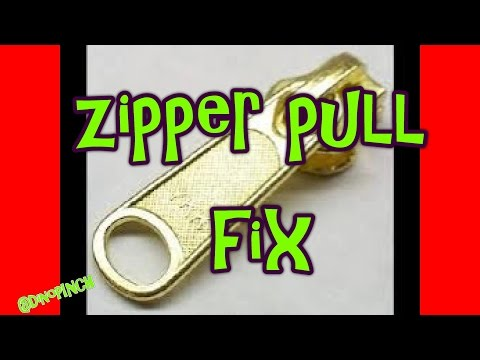 Broken Zipper Pull Fix  Pants, Jacket, Backpack
