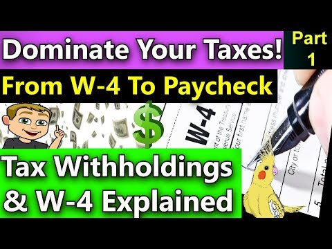 How Do Tax Withholdings Work? (2018 W-4 Form Explained) W-4 and Tax Withholdings