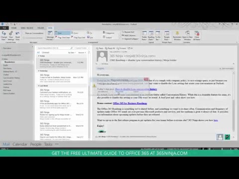 Change your inbox message preview settings in Outlook 2013