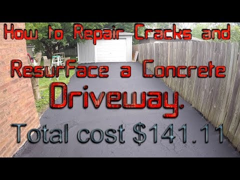 HOW TO REPAIR CRACKS AND RESURFACE A CONCRETE DRIVEWAY