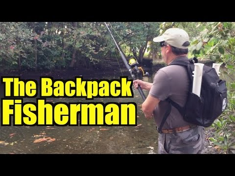 This Guys Fishing Backpack Rules!  The Backpack Fisherman