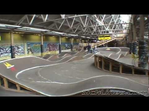Ray's Indoor MTB Park Pump Track SickLines.com video