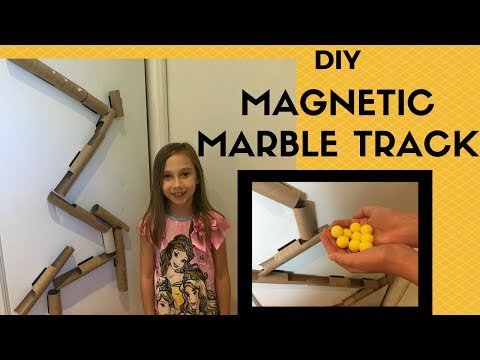 How to make a DIY Magnetic Marble Track