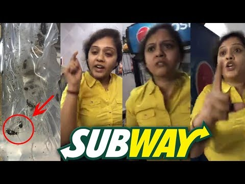 Live Cockroaches Central Subway She Reacts Harshly on Customer - Hyderabad