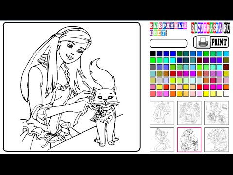 Coloring Book Children Coloring Pages BARBIE and her Friends ...