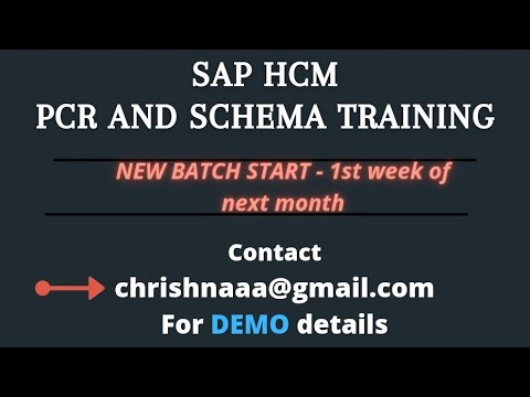 Hourly Wage Earners Valuation Through PCR - Part 1 | SAP HR Online Training On PCR's and Schema's