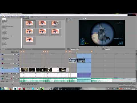 Basic Montage Tutorial/Guide - Battlefield 3 Part 2 effect twixtor rsmb (Sony Vegas)