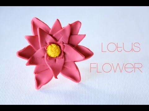 Lotus Flower - Polymer Clay Ring Tutorial