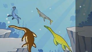 Dinosaurs. Jurassic Park. Cartoon for Kids Walk with Dinosaurs