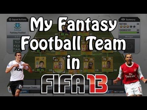 My Fantasy Football Team in FIFA 13