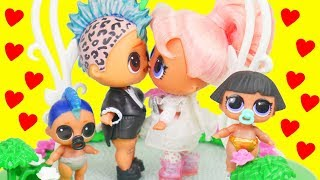 Download Punk Boi Family LOL Surprise Wedding with Lils Fuzzy Pets   Toy Egg Video