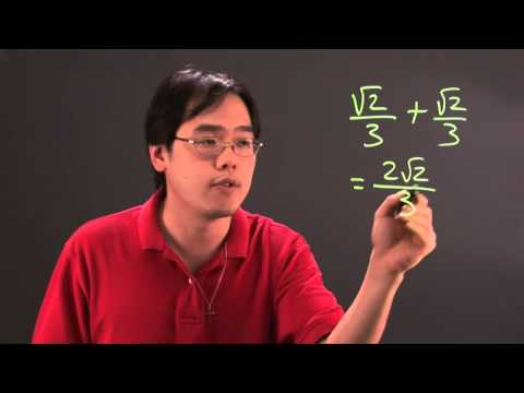 How to Add Square Roots to Numerator Fractions