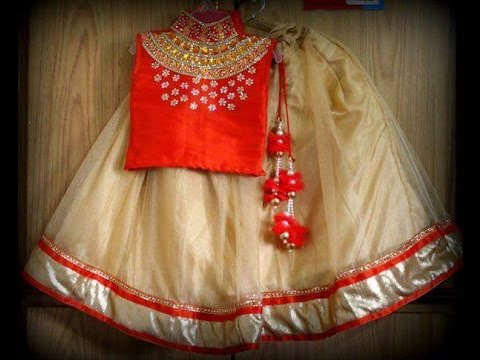 Designer Kids Silk Skirts ||  girl pattu langa designs || blouse designs for kids