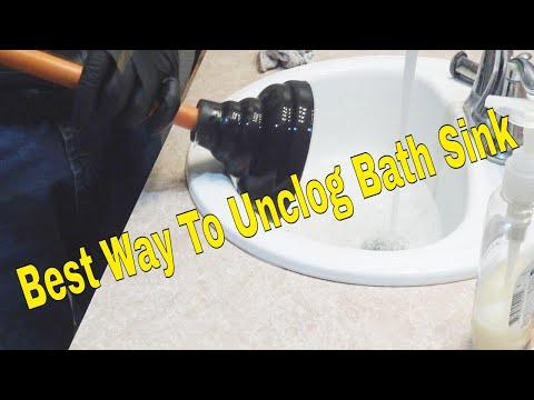 Unclog Bathroom Sink.