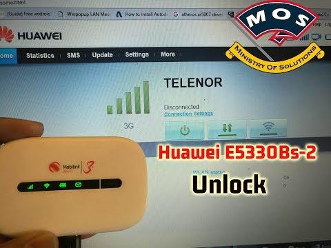 Huawei E5330Bs-2 Unlock Service (with 0 unlock attempts also unlocked)