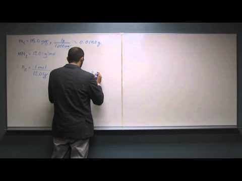Calculate Number of Atoms From Mass 010