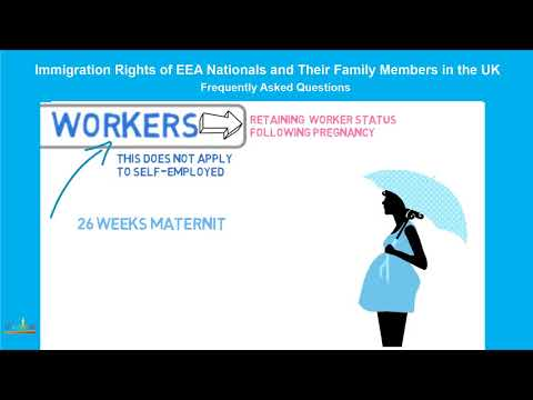 European Economic Area Nationals, Qualified Persons: RETAINING WORKER STATUS FOLLOWING  PREGNANCY