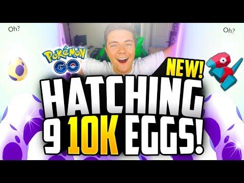Pokemon Go - Hatching 9x 10K EGGS! (NEW POKEMON GO 10k EGG HATCHING!)