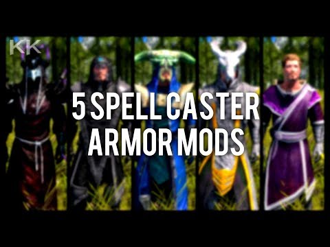 Skyrim Special Edition: ◼️5 Spell Caster Armor Mods ◼️ | Killerkev