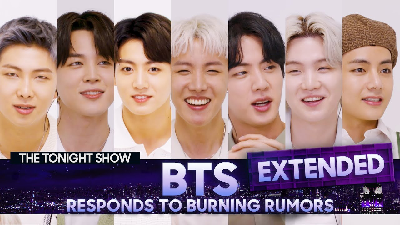 BTS Responds to Rumors About Their Fan Base and Potential Stage Names (Extended) | The Tonight Show