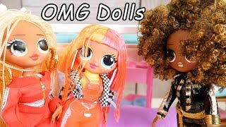 Download LOL Dolls Baby Sit OMG NEON QT Famiky in with Barbie Family Goldie Video