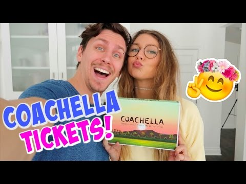 WE GOT COACHELLA TICKETS!!!!!!