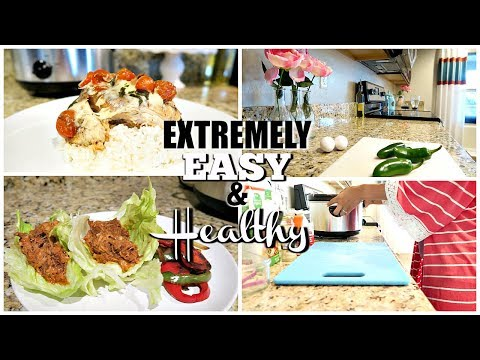 EXTREMELY EASY HEALTHY DINNER IDEAS | COOKING WITH LINDSEY