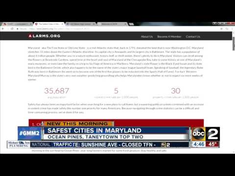 List of safest cities in Maryland released